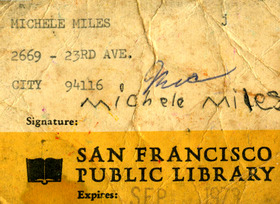 Michelesfirstlibrarycard
